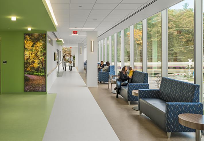hallway at melrosewakefield building
